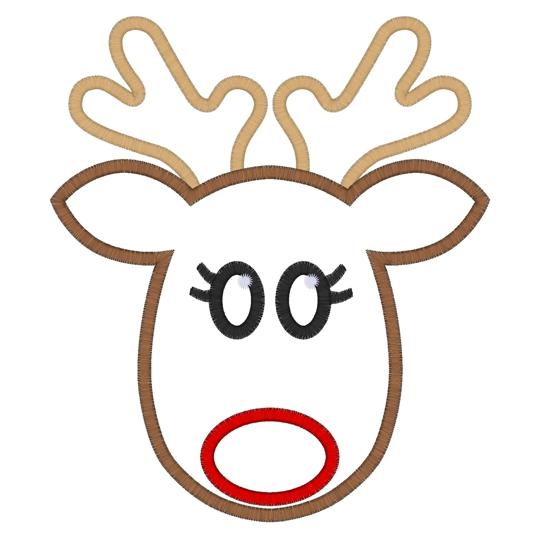 Free Reindeer Face Pattern