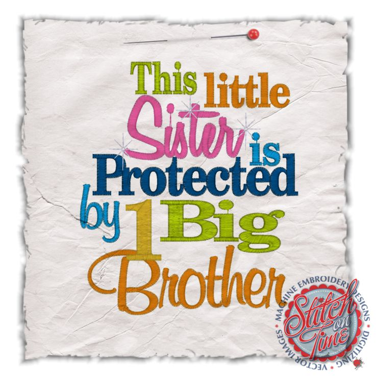 Big Brother Quotes From Little Sister Sayings (4402) Little Sister Protected By 1 Big Brother 5x7 Big Brother Quotes From Little Sister