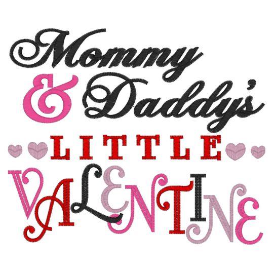 6e6146d33 Valentine (239) Mommy & Daddy's Little valentine 6x10